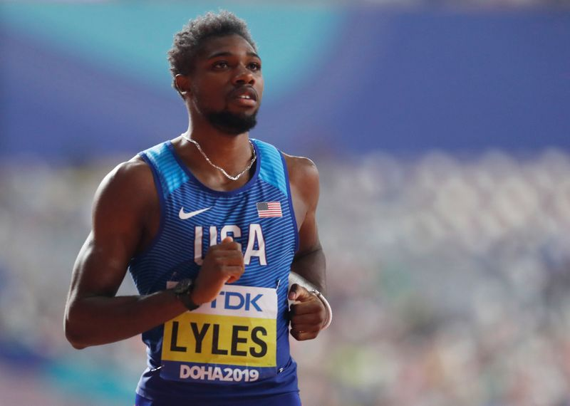 Lyles unimpressed with his speed after indoor 200m triumph