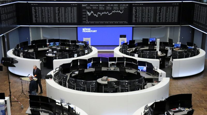European shares hover near one-year highs; miners jump