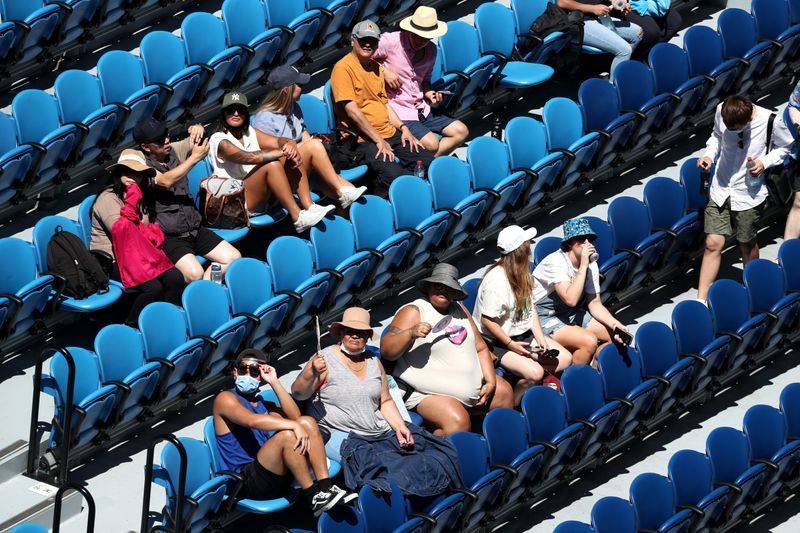 Lockdown over, tennis fans back as Australia says no new virus cases for over 48 hours