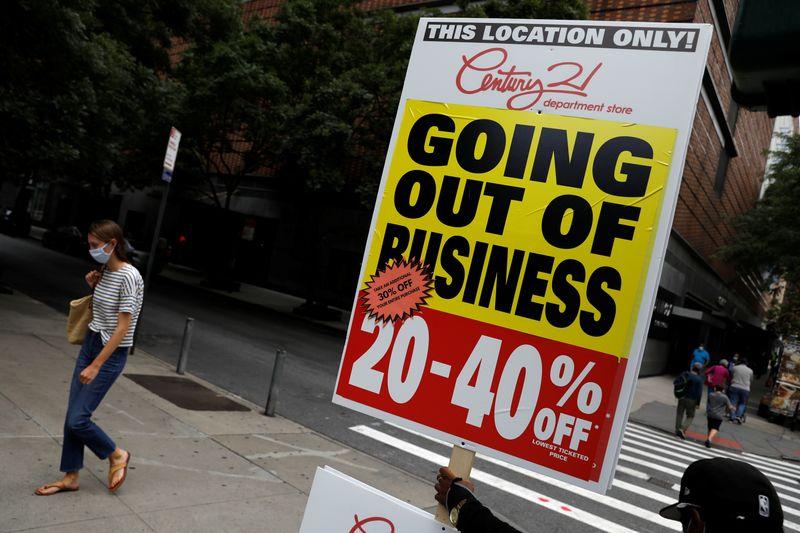 USA: Les risques de faillites d'entreprises