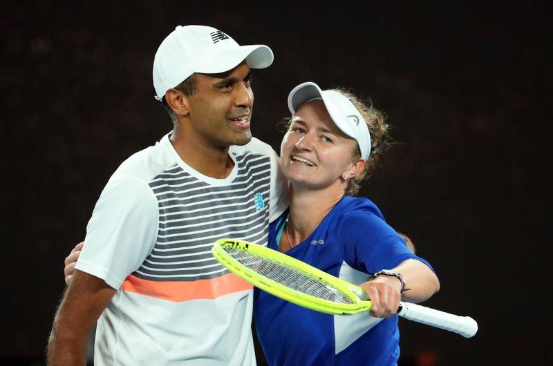 Ram, Krejcikova storm to mixed doubles title at Australian Open