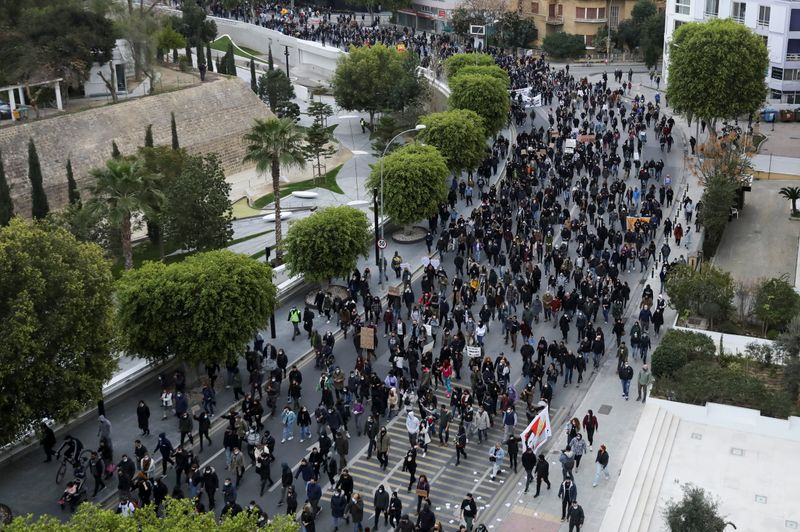 Cypriots defy ban to protest again over corruption, coronavirus curbs