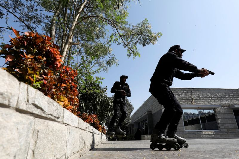 Pakistan police pop their rollerblades on to catch Karachi's criminals