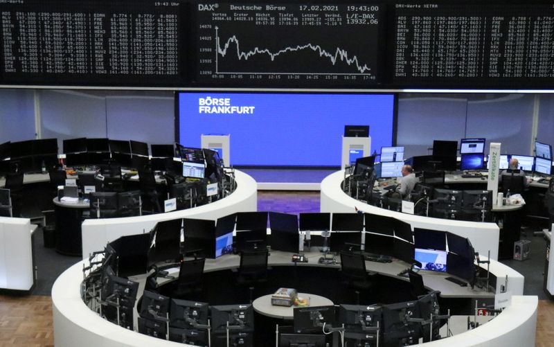 European shares gain on higher commodity prices; HSBC weighs