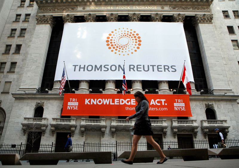 Thomson Reuters fourth-quarter revenue, adjusted earnings rise