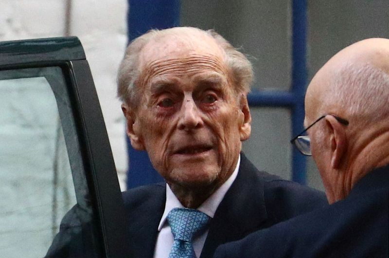 UK's Prince Philip to stay in hospital, son Edward says he is a lot better