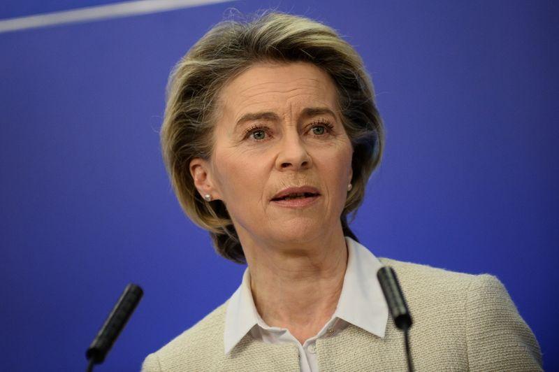 EU's von der Leyen tells skittish Europeans: 'I'd take AstraZeneca vaccine'