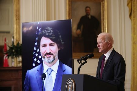 Biden says U.S., Canada to work toward achieving net zero emissions by 2050