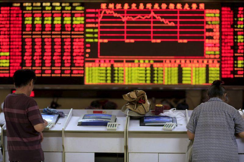 Китайские акции показали худшую неделю почти за 2,5 года на фоне роста доходности облигаций