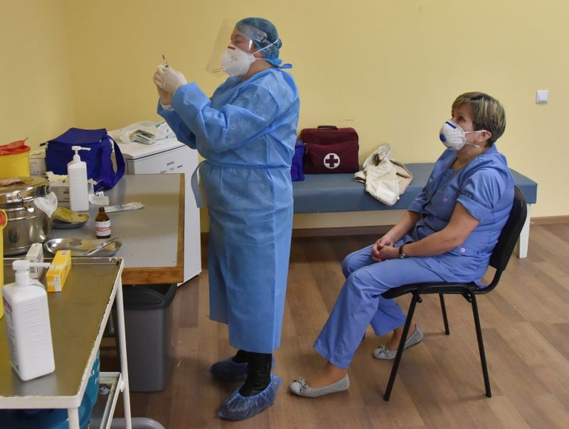 Ukraine throws away unused COVID-19 shots as doctors skip their own vaccinations