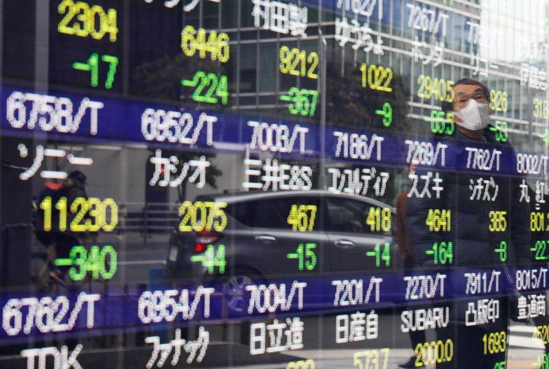 Yen near seven-month low, Asian shares fall as bond yields rise