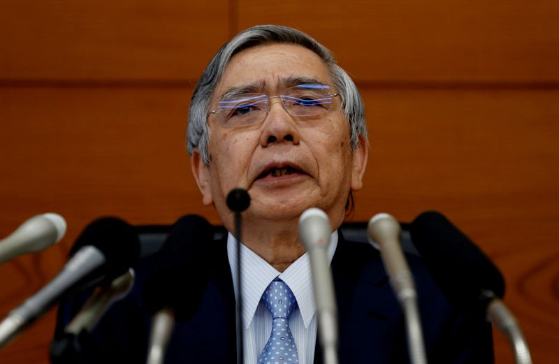 BOJ's Kuroda brushes aside chance of widening yield band at March review