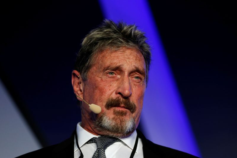 U.S. says John McAfee has been indicted for fraud and money laundering conspiracy crimes
