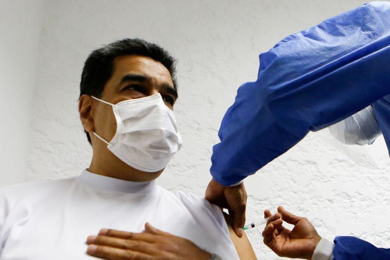 Venezuela's Maduro receives first dose of Sputnik V coronavirus vaccine