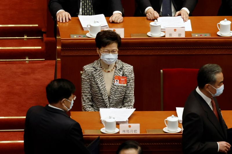 Hong Kong's Lam says electoral reforms to improve ability to self-govern