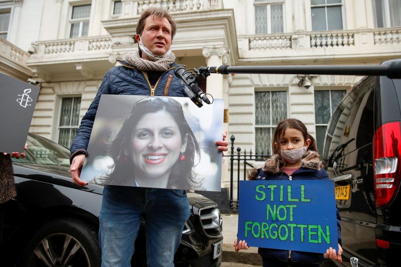 'Big grin' from British-Iranian aid worker in Iran, but doubt about fate, husband says