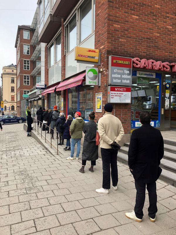 Queue to quaff? Pandemic poses problems for Sweden's state booze monopoly