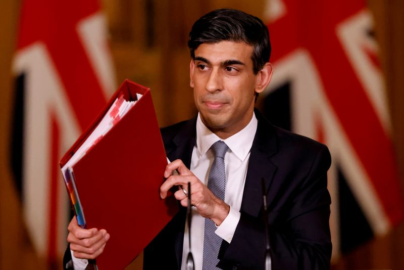 UK's Sunak says he does not favour a debt-to-GDP target