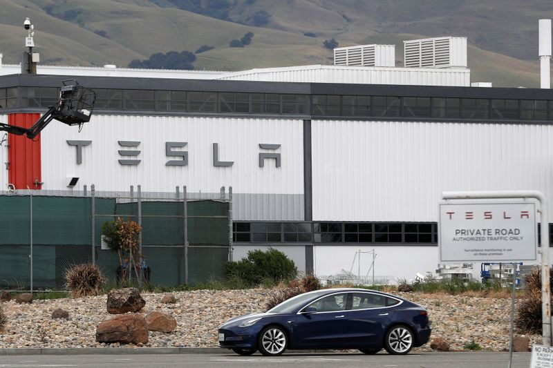 Fire at Tesla's Fremont factory under control, no injuries reported