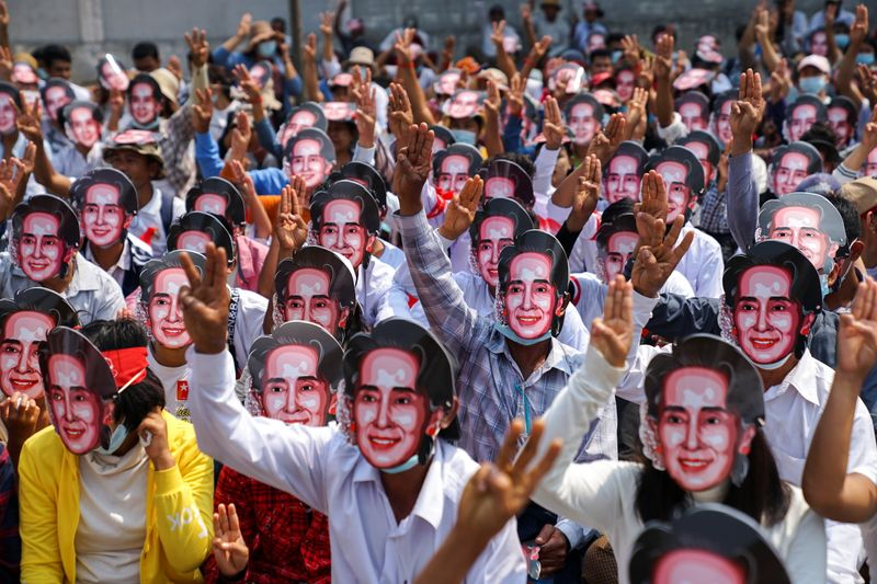 More protests held in Myanmar as Suu Kyi's lawyer dismisses bribery claims