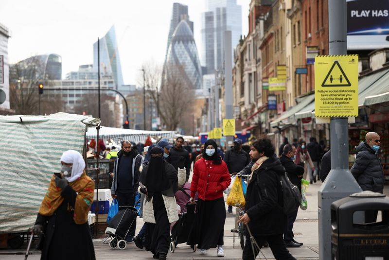 UK economy shrank by less than expected 2.9% in January