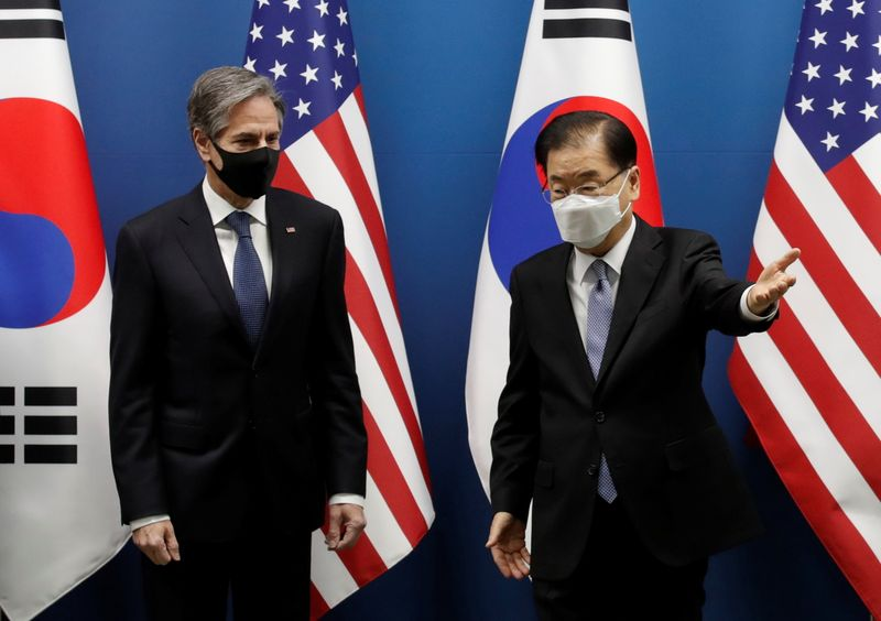 Blinken says U.S. weighs pressure, diplomacy on North Korea over denuclearisation and rights abuses