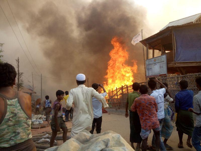 Bangladesh probes fire at Rohingya refugee camp that killed seven