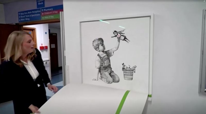 Banksy's tribute to health workers sells for record $20 million at auction