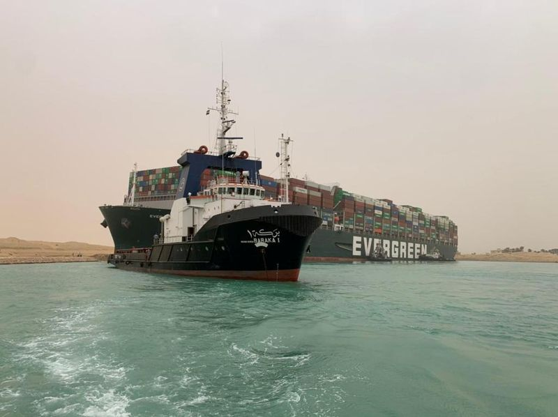 Suez Canal diverts ships to old channel after giant container ship runs aground