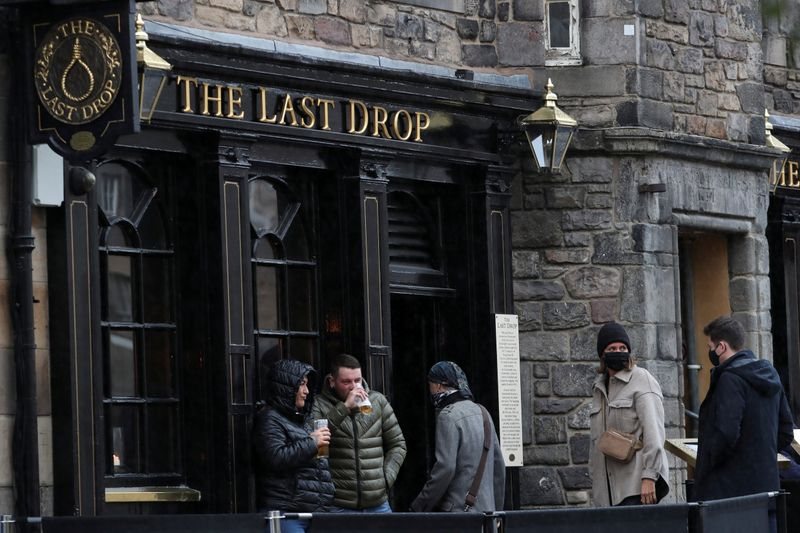Britain has no immediate plans for COVID passports for pubs: minister