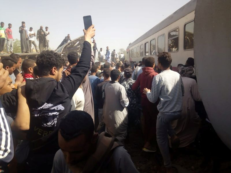 Egypt revises death toll from train crash