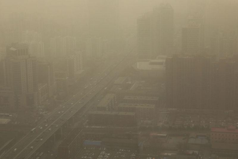 Beijing enveloped in hazardous sandstorm, second time in two weeks