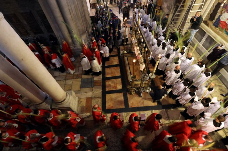 Holy Sepulchre church opens on Palm Sunday as Latin Patriarch says 'We feel more hopeful'