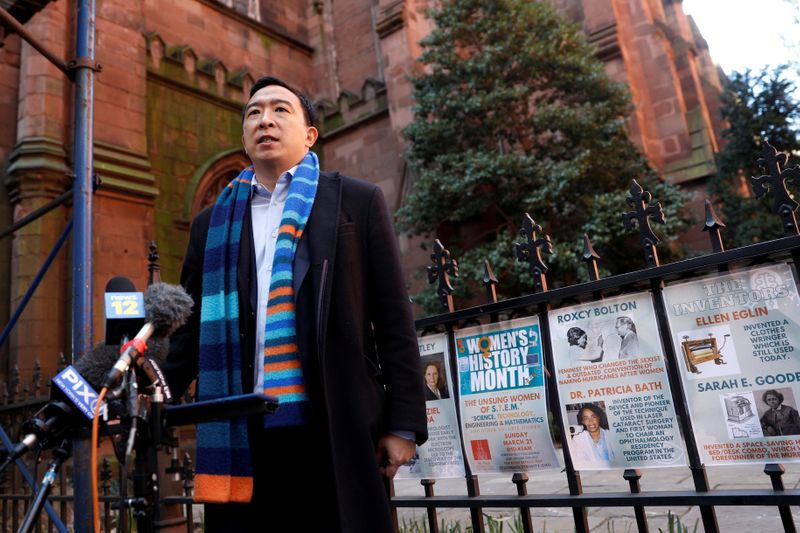 Andrew Yang, New York City mayoral candidate, hospitalized with likely kidney stone