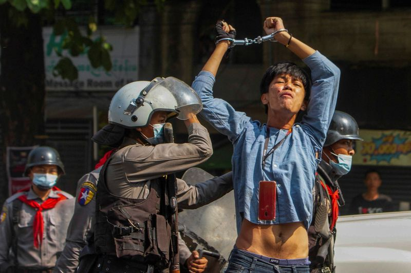 Four killed in Myanmar protests as junta cracks down on online critics