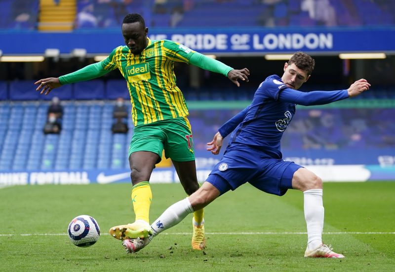 Soccer: West Brom stun 10-man Chelsea with 5-2 victory at Stamford Bridge