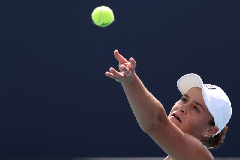 Tennis-Barty hits out at number one ranking critics