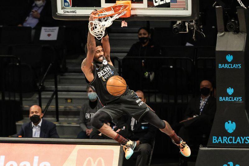 NBA roundup: Kyrie Irving scores 40, James Harden hurt in Nets' win