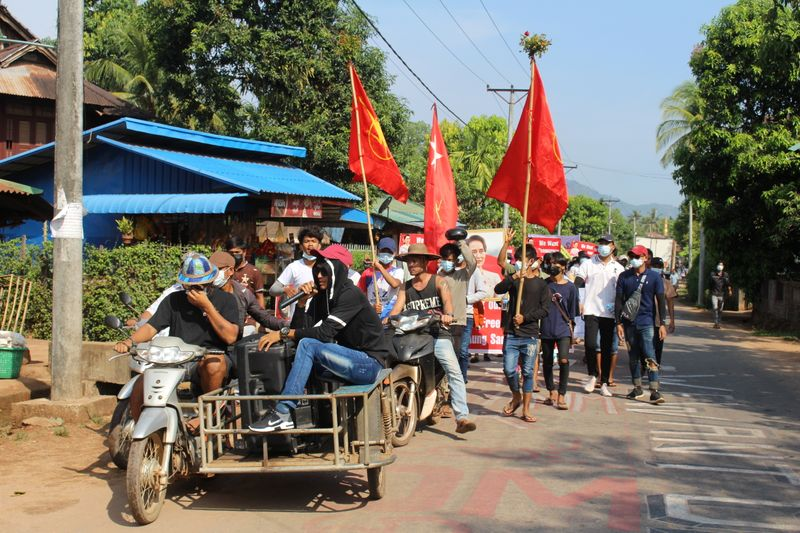 Myanmar security forces kill 15 protesters, junta leader says opposition aims to