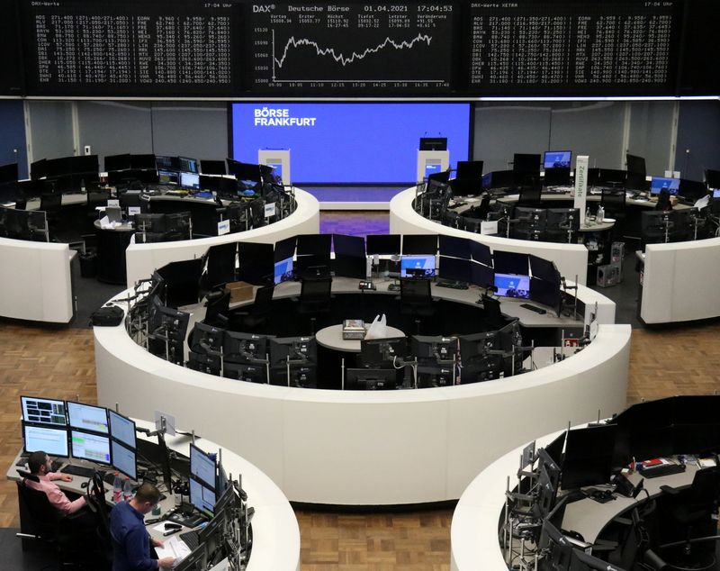 European stocks hover near record high, UK outperforms