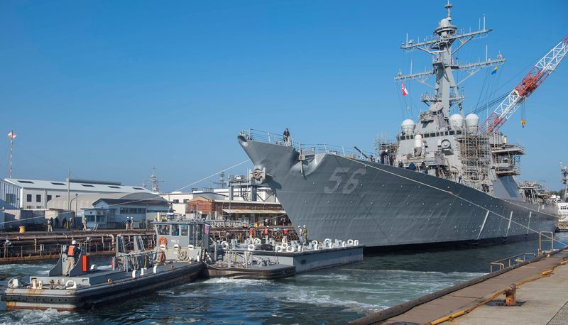 U.S. warship transits Taiwan Strait amid China tensions