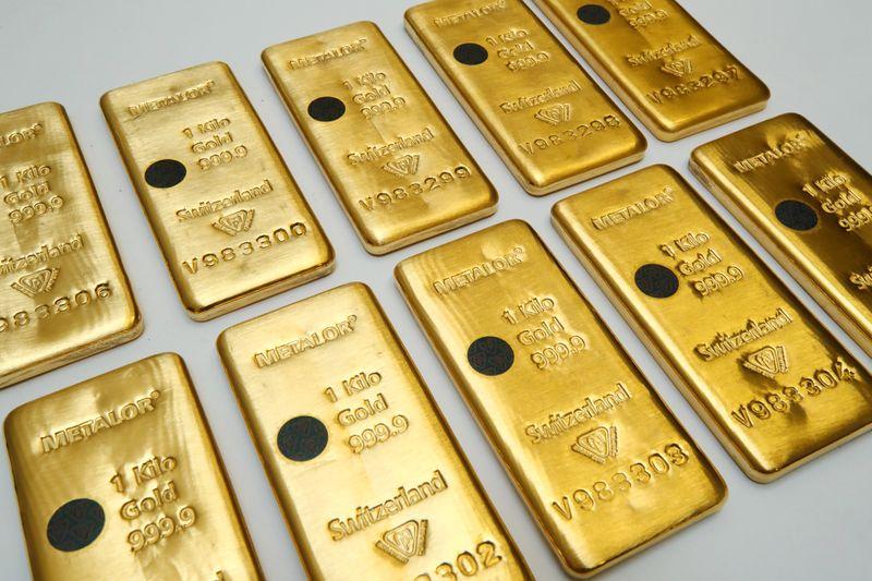 Золото падает и-за ожиданий быстрого восстановления экономики