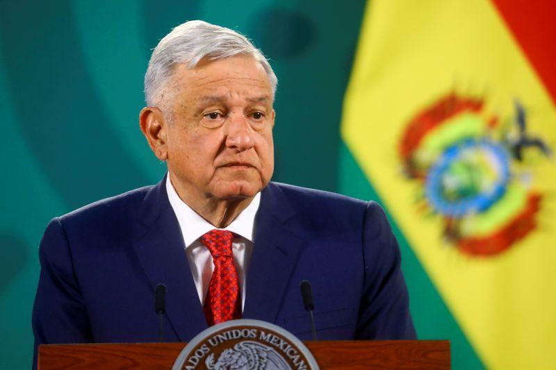 Mexico's president says spoke to U.S. Vice President Harris