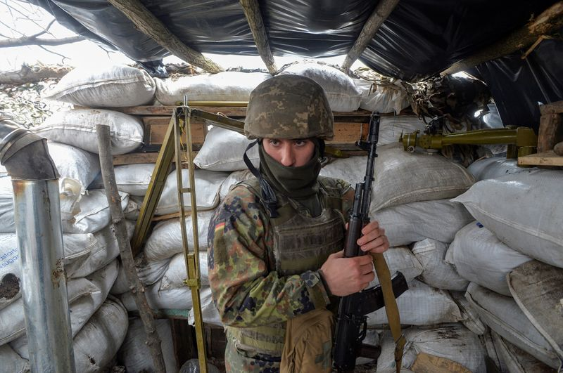 Ukraine's president visits Donbass as tension mounts with Russia