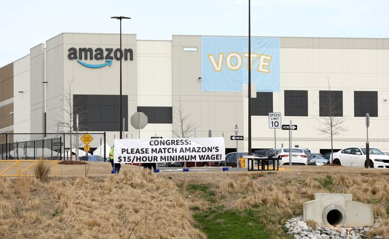 Amazon union election tally expected to start, turnout 55%