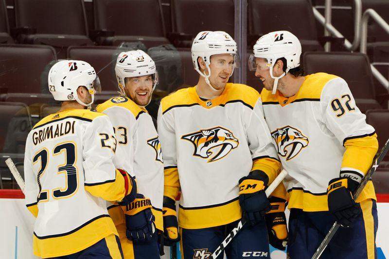 NHL roundup: Viktor Arvidsson's hat trick powers Predators