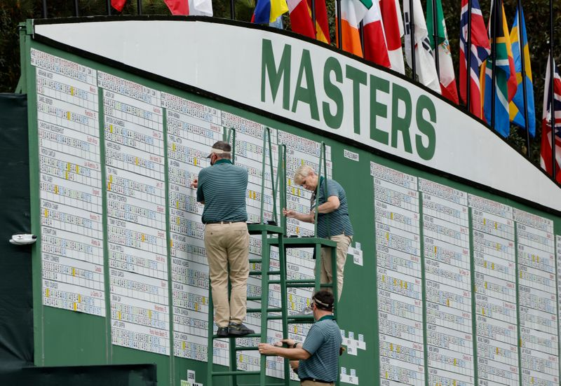 Japan's Matsuyama in control of Masters, leads by four shots