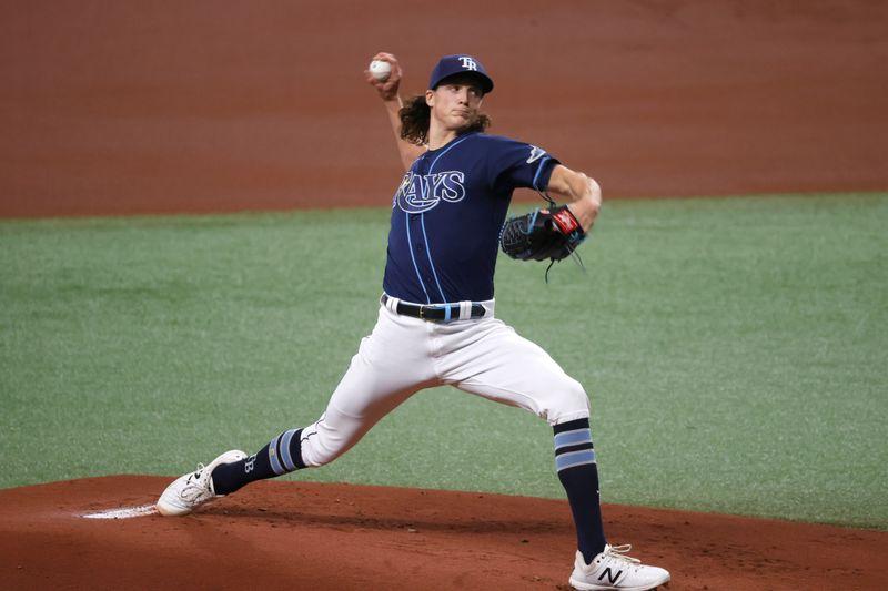 MLB roundup: Tyler Glasnow fans 14 as Rays edge Rangers
