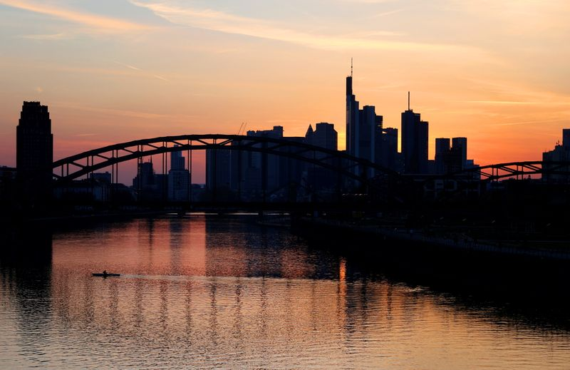 German investor morale falls in April on lockdown fears, ZEW states By Reuters thumbnail