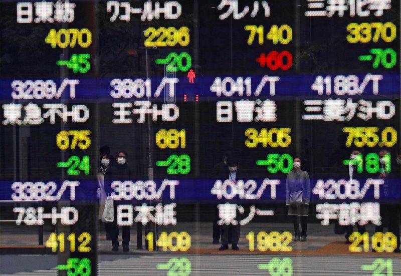 Asian shares slip, dollar wallows at 1-month lows